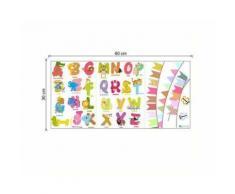 Autocollants Animaux Alphabet autocollants Pour la chambre de bébé chambre masion Décor enfant - Linge de table