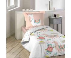 Parure de lit enfant Happy Lama 200x200 cm - Linge de lit