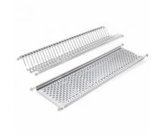 Emuca 8933965 Égouttoir suspendu pour assiettes et verres en acier inoxydable pour meuble cuisine 100cm - Meubles de cuisine
