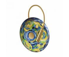 Applique murale design LUNA Or 24 Carats 1 ampoule Diamètre 20 Cm Bleu Aqua - Appliques et spots