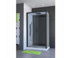 cabine de douche Cabine de douche hydromassante Pozzy 2 - Structure en aluminium - 80 x 110 x 220 cm - Installations salles de bain
