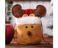 Décorations De Noël Sac À Linge Cordon Pomme Sac Mignon Sac De Bonbons Enfants Cadeau Wapiti - Objet à poser