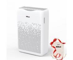 AIIBOT Purificateur dAir Silencieux 29 dB contre 99,97% dOdeurs, Allergènes et Gaz Nocifs avec Minuterie 1/2/3/4H et Ions Négatifs - Chauffage et ventilation