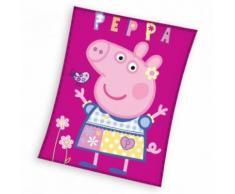 Peppa Pig Couverture polaire rose 110 x 140 cm - Linge de lit