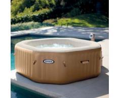 Paris prix - spa gonflable 4 places octogonale beige - Jacuzzi et sauna