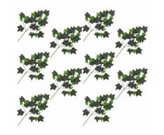 10 pcs Feuilles artificielles de lierre Rouge 70 cm - Plantes artificielles