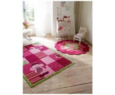 salon - Bee - rose 140x200 cm en Acrylique - Tapis enfant