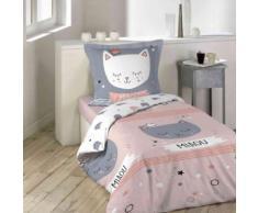 Parure de lit enfant Mimi Chat 200x200 cm - Linge de lit