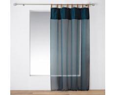 Voilage à passants faux cuir 140 x 240 cm Milleray Bleu - Rideaux et stores