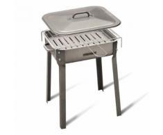 Barbecue au charbon de bois avec grille 30 x 35 cm EG56472 - Cuisiner en extérieur