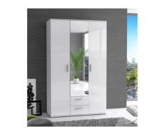 Finlandek armoire de chambre selkeä 121 cm - blanc brillant - Armoire bébé