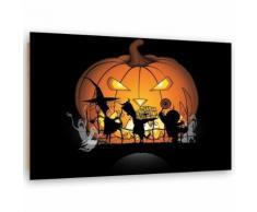 Feeby Tableau Panneau décoratif mural Image moderne, Citrouille d'halloween 100x70 cm - Décoration murale