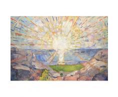 Edvard Munch Papier Peint Photo/Poster Autocollant - Le Soleil, 1910 (120x180 cm) - Décoration murale