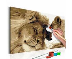 60x40 Tableau à peindre par soi-même Kits de peinture pour adultes Chic même - Décoration murale