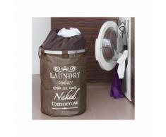 Sac à linge sale vintage dark wagon trend - Accessoires de bain
