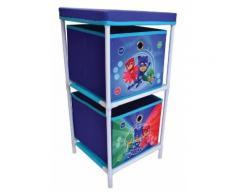 FUN HOUSE 712932 Etagère 2 casiers pour Enfant, PP/Carton, Bleu, 29,5 x 29 x 58,5 cm - Bureaux