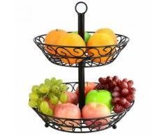 Corbeille à Fruits, Corbeille à Fruits à 2 Étages en Métal Creative Moderne Panière à Fruits Support de Stockage pour Fruits - Outils de coupe