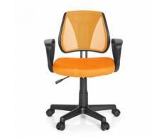 Chaise de bureau enfant / siège de bureau enfant KIDDY CD tissu maille orange - Sièges et fauteuils de bureau