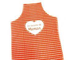 Tablier de cuisine 'La Cuisine de Maman' rouge - Autres