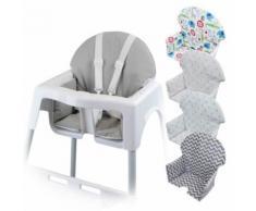 Housse d'assise pour chaise haute bébé enfant gamme Délice - Gris uni - Chaises hautes et réhausseurs