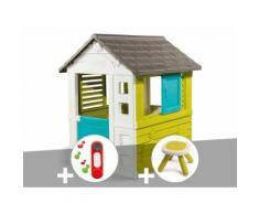 Cabane enfant Pretty - Smoby + Sonnette + Tabouret - Maisons de jardin