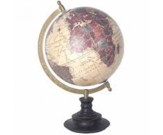 Décoration Globe Terrestre pied en bois modèle 6 - Objet à poser