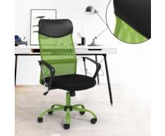Fauteuil de bureau vert MEUBLE EXPRESS plastique métal - Sièges et fauteuils de bureau