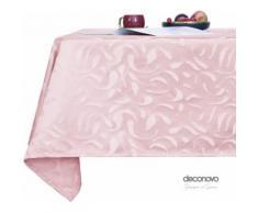 Deconovo Nappes Rectangulaire pour Mariage Nappe Motif Vague Jacquard Designer Series Imperméable Exterieur 130x130cm Rose - Linge de table
