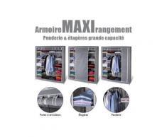 Armoire de rangement grise dressing penderie xxl tissu - Rangement de l'atelier