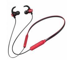 Accrochez Sport Cou BT Métal Shell Ear Caisson de Graves Casque Audio Qualité Wenaxibe007 - Casque audio