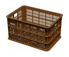Basil casier Crate Là vélos en plastique 50 litres marron - Equipements et accessoires de cyclisme
