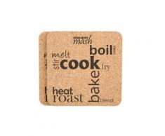 T&G Woodware - Set 2 Dessous Plat Liege L20 131 - Accessoire de cuisine