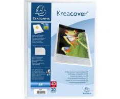 Porte vues prolypropylène semi rigide Krea Cover Chromaline 40 vues - A4 Bleu transparent - Conférencier, porte document
