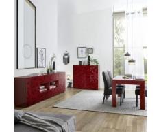Salle à manger enfilade + table design rouge laqué NINO 3 - Ensemble de meubles