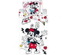 Disney Minnie Drap Parure de lit Enfant 140 × 200 cm de 70 × 90 cm - Linge de lit