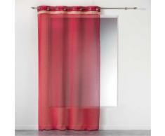 Voilage rouge a oeillets 140 x 240 cm + franges frangy - Rideaux et stores