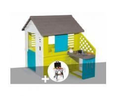 Cabane enfant Pretty + Cuisine d'été - Smoby + Plancha - Maisons de jardin
