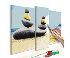 110x90 Tableau à peindre par soi-même Kits de peinture pour adultes Chic même - Décoration murale