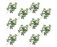10 pcs Feuilles artificielles de raisin Vert 70 cm - Plantes artificielles