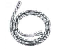 Flexible de douche 150 cm PVC chromé anti-torsion accessoires 718011 - Accessoires salles de bain et WC