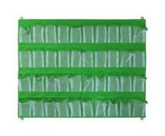 Achoka organiseur mural 40 poches 81 x 105 cm vert - Boite de rangement