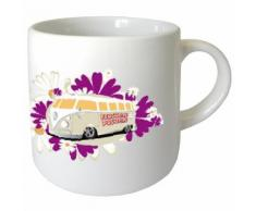 Mini tasse en céramique Flower Power by Cbkreation - Tasse et Mugs