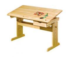 Bureau pour enfant en pin massif vernis Naturel, Dim : 55 x 109 x 96 cm -PEGANE- - Bureaux enfant et accessoires