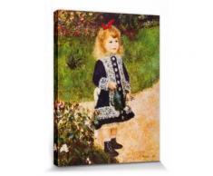 Pierre Auguste Renoir Poster Reproduction Sur Toile, Tendue Sur Châssis - La Petite Fille À L'Arrosoir, 1876 (40x30 cm) - Décoration murale