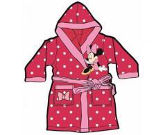 Mgs33 Peignoir Minnie Mouse Rose Fuchsia pour Fille Age 3 Ans, Tout Doux, Superbe Couleur,Disney, avec Poches - Linge de bain