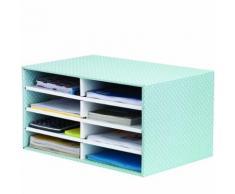 Style Trieur Cartonné de Bureau - Vert/Blanc - Bureaux