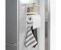 SoBuy® FRG247-K-W Étagère à Suspendre pour réfrigérateur Étagère à épices en Metal avec chrochets - Magnétique Blanc - Mobilier de Jardin