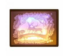 Creative Art Décor Lampe Night 3D Lampe de Papier Peint Peinture Tableau Led JJZM1001 - Lampes