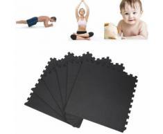 6 Tapis de protection en mousse - épaisseur 1,2cm - 12 pièces d'about - Noir - Yoga et pilâtes