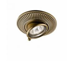 Spot classique MILORD laiton antique 1 ampoule Diamètre 12 Cm - Appliques et spots